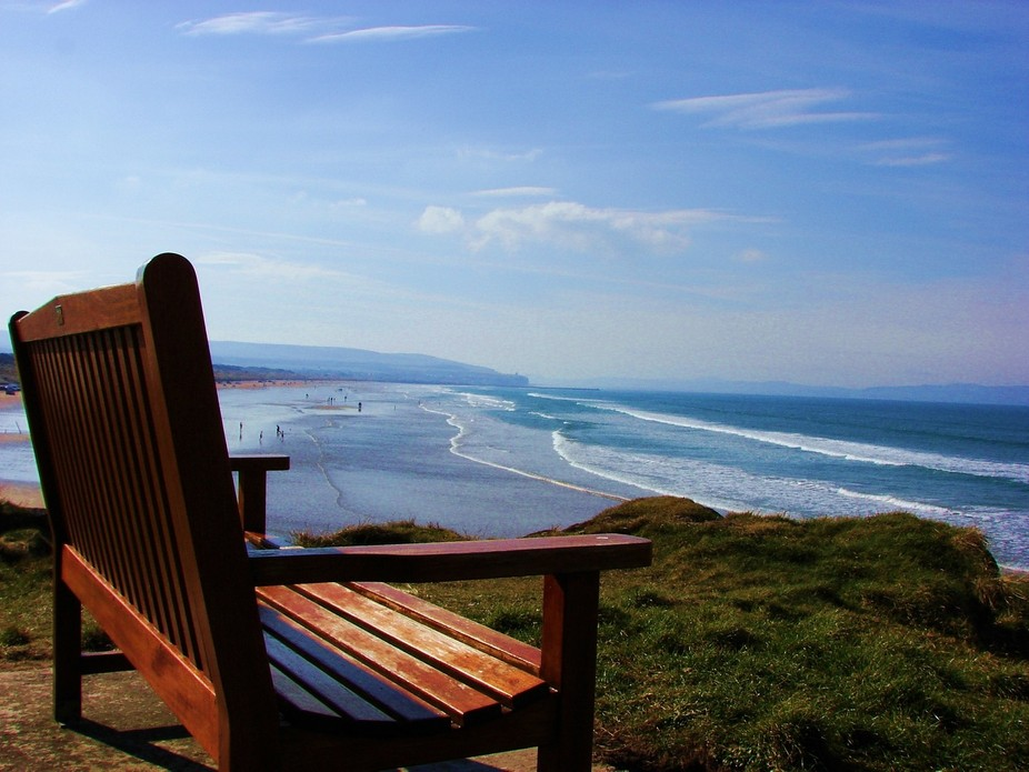 A wonderful look out point over the sea at Portstewart Northern Ireland, I just know me and my wi...
