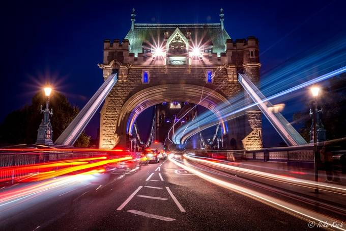 Traffic on Tower Bridge by framing-places - Iconic Places and Things Photo Contest