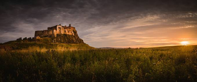 Holy Island Sunset by tomrogers - Enchanted Castles Photo Contest