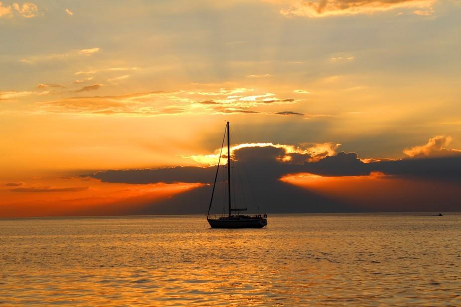 Sunset over Half Moon Bay, Black Rock, Melbourne