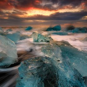 These stunning icebergs that washed onto the shore of the ice beach in Vatnajökull National Park reminded me of coming back again and again... a...