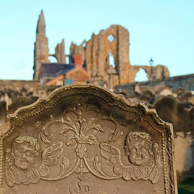 Whitby Abbey, Yorkshire, England, captured just before sunset in September.
