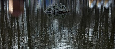 Rock on water