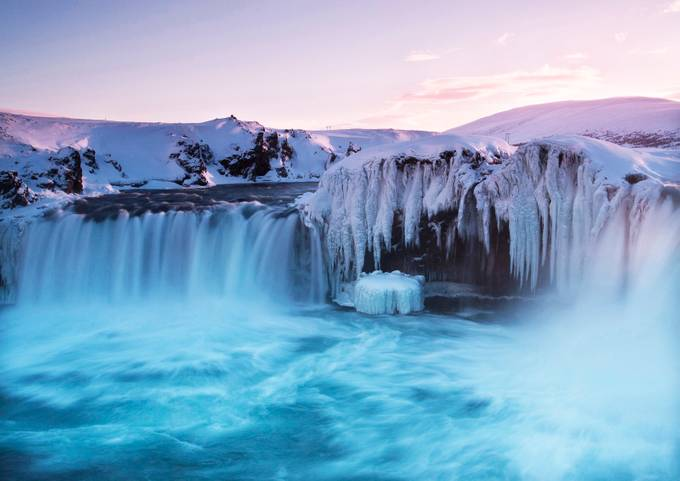 Frozen Falls-1 by lauracogan - Landscapes Of Iceland Photo Contest