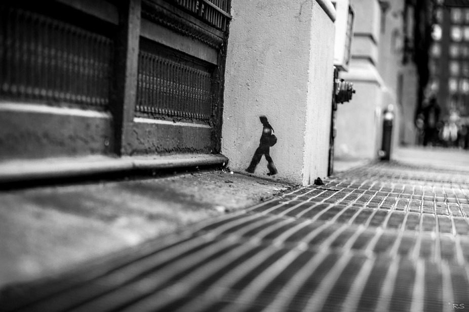 Wall Art.  Unnamed Street.  New York City, USA.