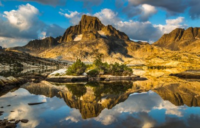Banner Peak Reflection at 1000 Island Lake