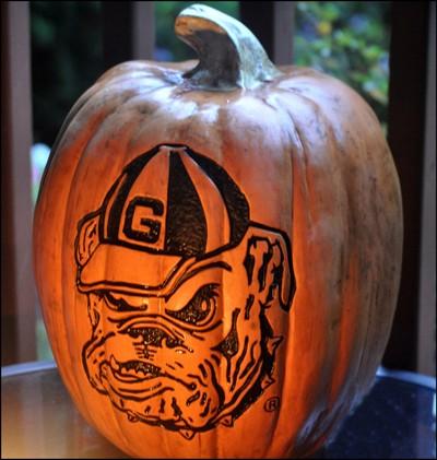 GA Bulldog Pumpkin