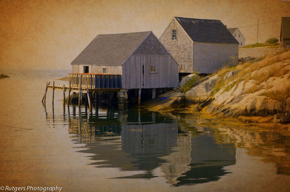 Lovely house on stilts located in Peggy's Cove Nova Scotia