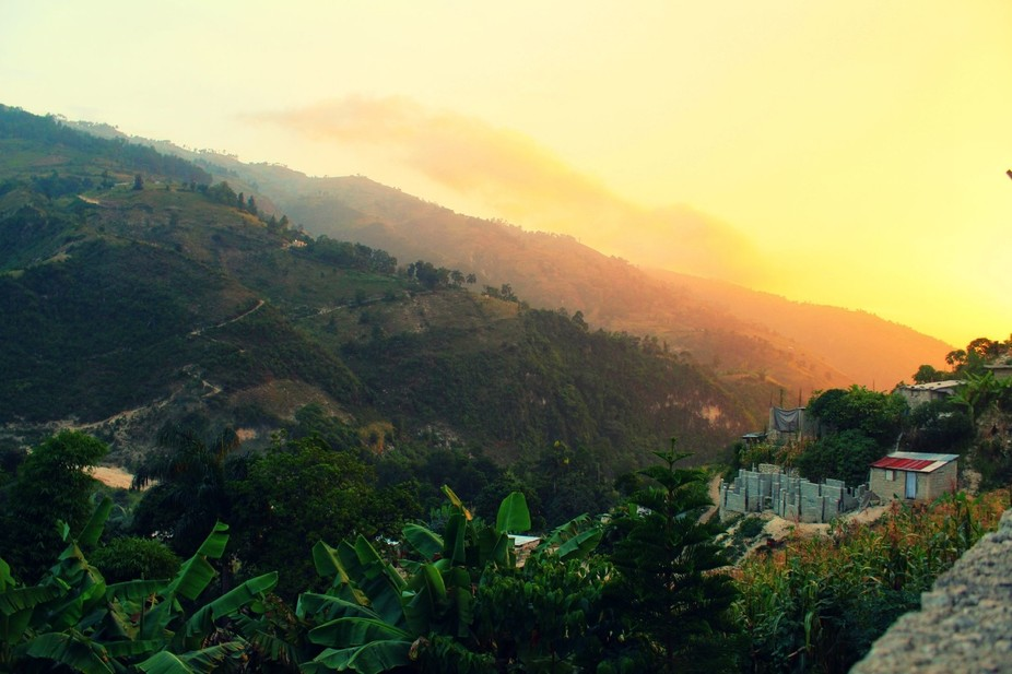 Haiti Mountain Sunset