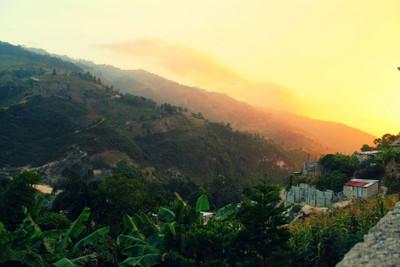 Haiti Mountain Sunset
