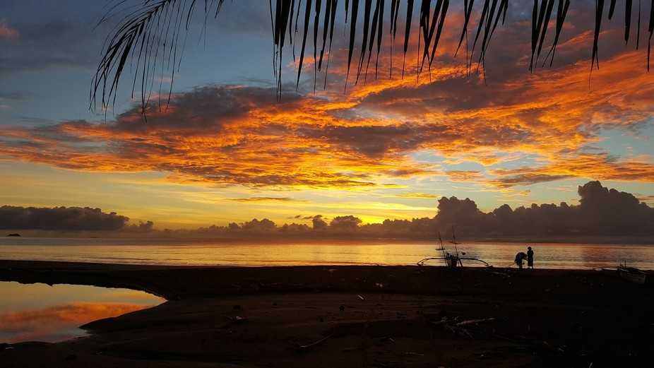 5AM pacific sunrise view from Philippines..