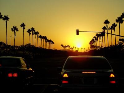 Sun setting on Alton