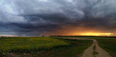Stormy Sunset In Alberta