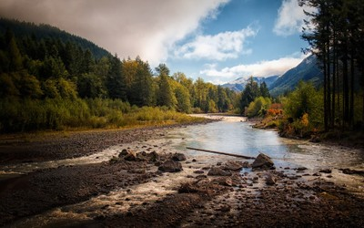 The White River, Washington