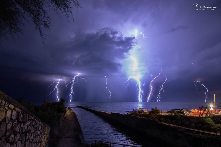 lighting storm