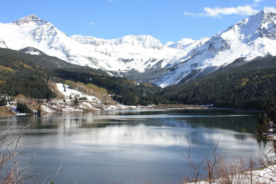 This is a lake we visited while on vacation in Colorado. It was a beautiful fall day with an earl...