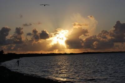 Sunset in Rio San Juan