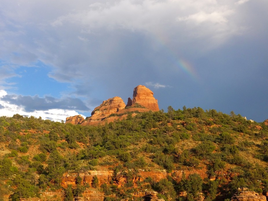 Caught this rainbow while visiting Sedona last month