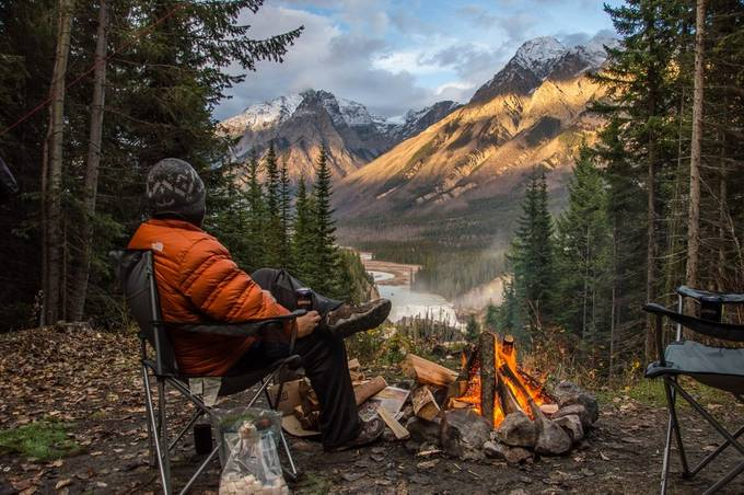 2015-10 View of Wapta Falls from our Campsite by aplrichard - Feeling Hope Photo Contest