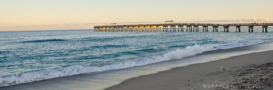 As the sun was setting, the pier was lit up.  This shot was taken during my afternoon hike with m...