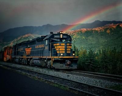 Alaska Train_Rainbow_65310010