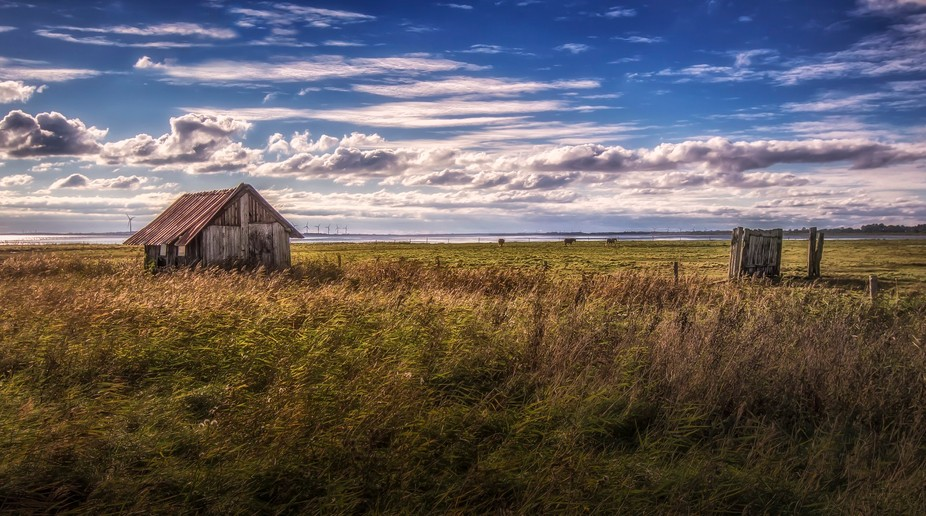 An old cabin for the horses at Torslev Dyb in Denmark