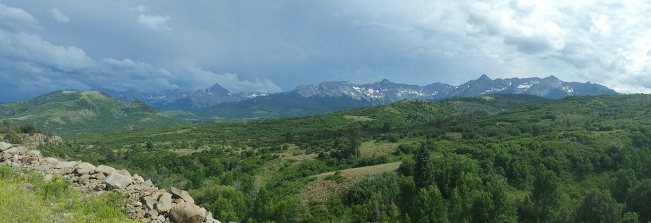 A view of the mountains in Ouray County, Colorado.