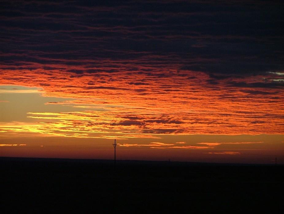 sunrise in Amarillo, Texas