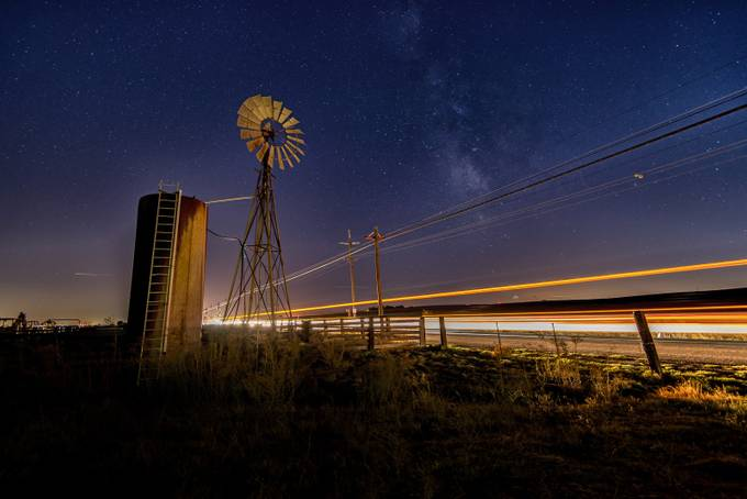 Windmills and Milky ways by rhmimages - Capture The Milky Way Photo Contest