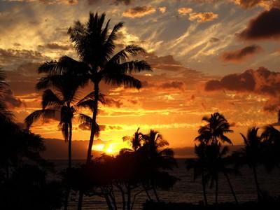 Sunset at Wailea Beach