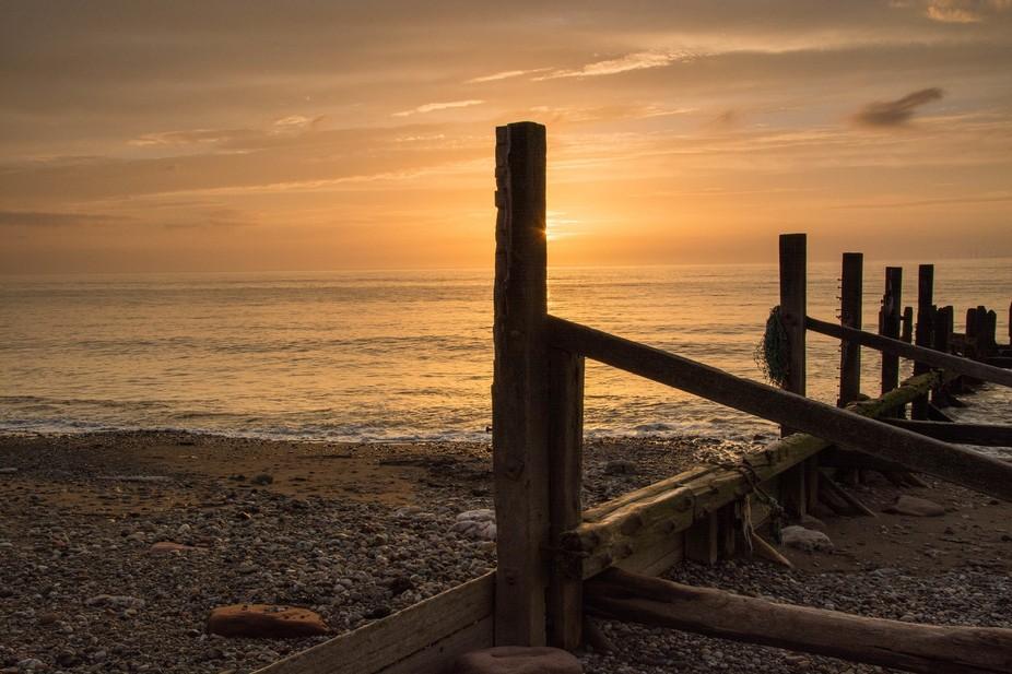 An evenings sunset shot along the sea side