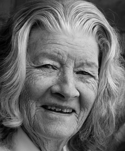 Street photo of elderly lady, Betwys-y-Coed, Wales
