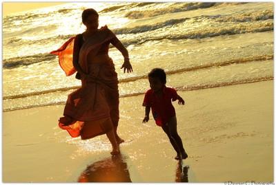 Naughtiness & Naivety on silky sand