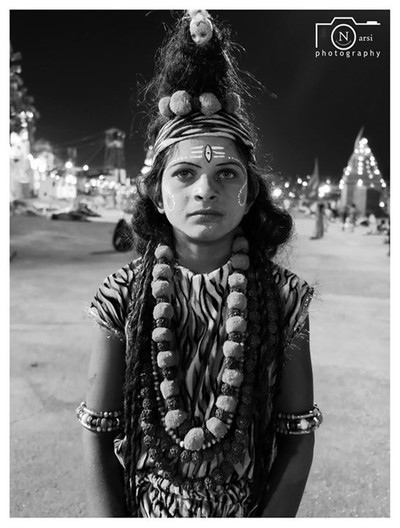 Young Boy Dressed like Lord Shiva !!