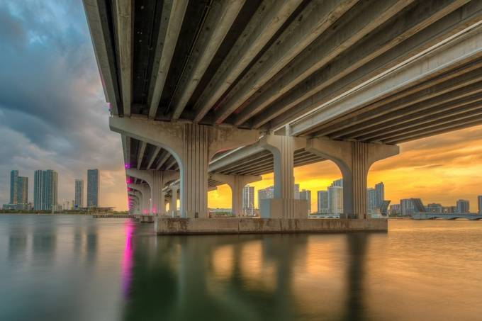 Sunset beneath the bridge by PhilMcCabe - Spectacular Bridges Photo Contest