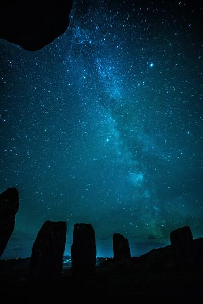 Milky Way At Drumbeg Stone Circle