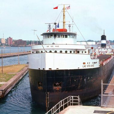 Iron Ore freighter Michigan 1982