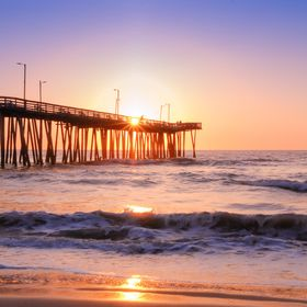 Sunrise over the Virginia Beach fishing pier