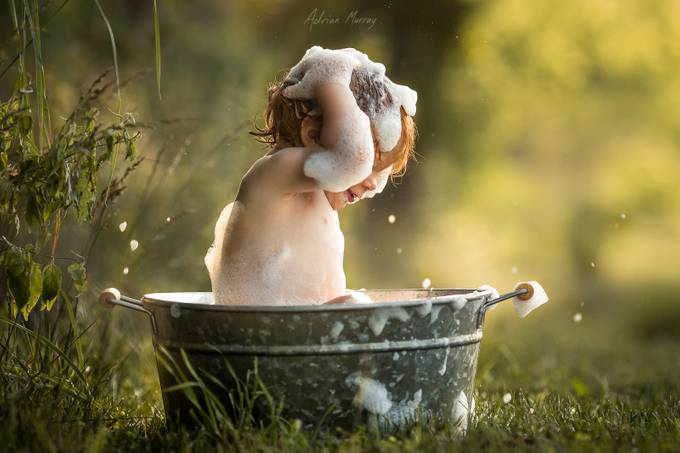 Bathtime Splash by adrianmurray - Babies Are Cute Photo Contest