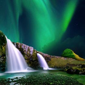 This shot was taken of the Northern Lights at Kirkjufellnesfoss on the Snaefellsnes Peninsular in the west of Iceland.