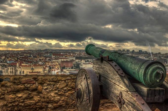 Canon fire - Lisbon by David-B - Layered Compositions Photo Contest