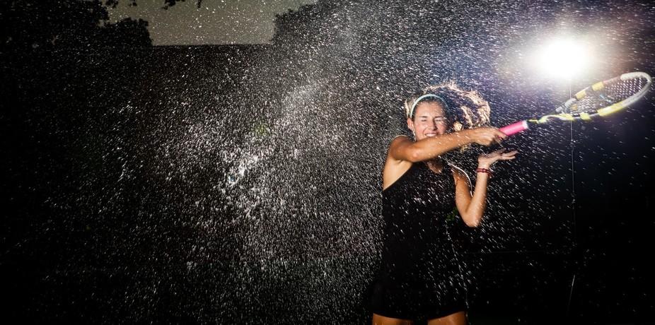 Girl's make a splash with tennis!