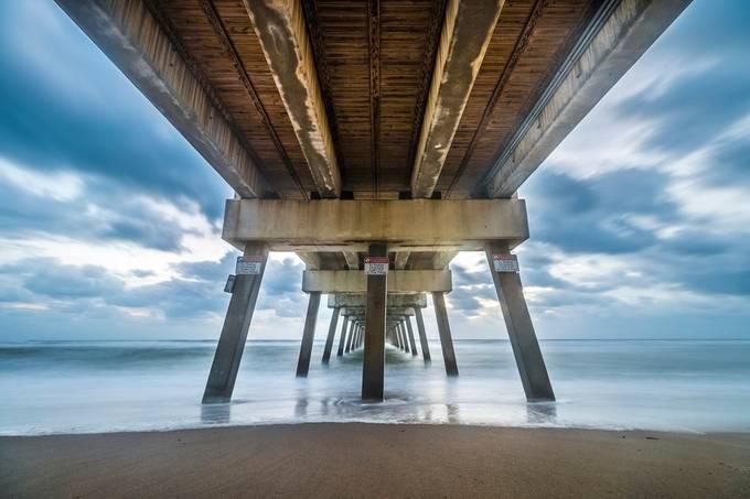 Under Juno Beach Pier by jpfotos - The View Under The Pier Photo Contest