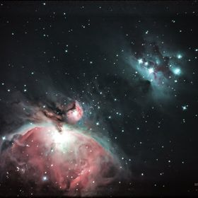 "This photo is The Orion Nebula using a Orion 10"" telescope Canon 50D  Exp.1hr"
