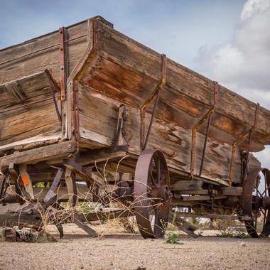 Old farm wagon in Pioneertown, near Yucca Valley, California.