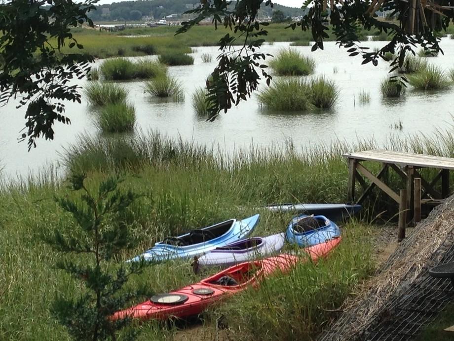 Kayaks in Wellfleet