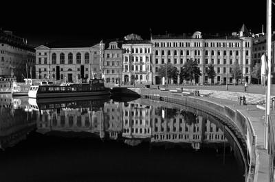 Nybroplan, Stockholm b&w