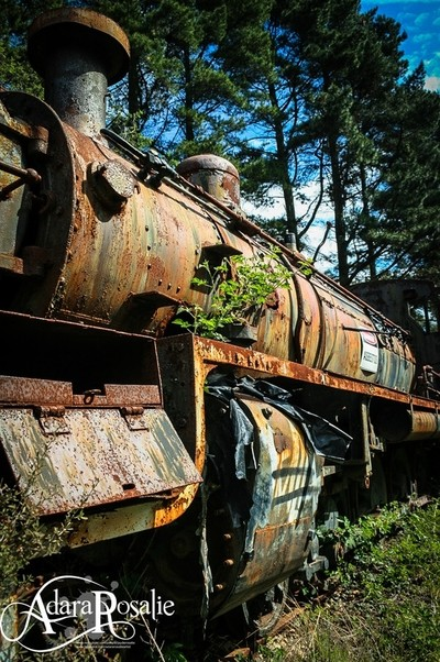 Abandoned Steamtrain engine