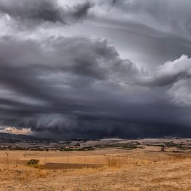 Perfect storm from Suelli (Sardinia).