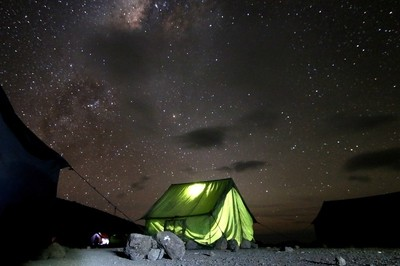 Mess tent under the Milkyway